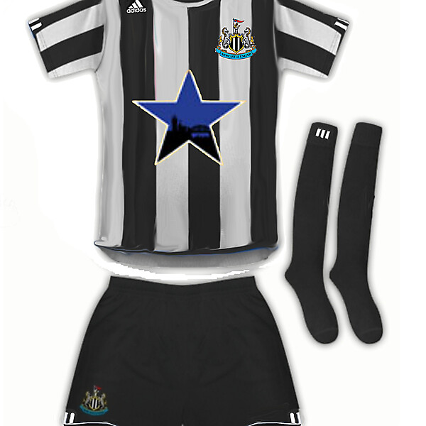 Newcastle United adidas home kit with Newcastle Brown Ale