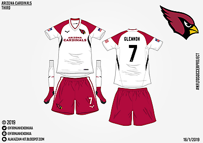 #NFLtoSoccerProject - Arizona Cardinals (Away)