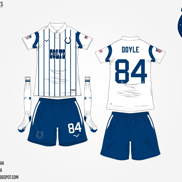 #NFLtoSoccerProject - Indianapolis Colts (Away)