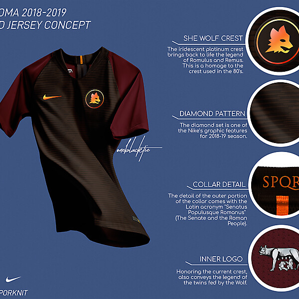 Nike AS Roma 2018-19 She Wolf Special Jersey
