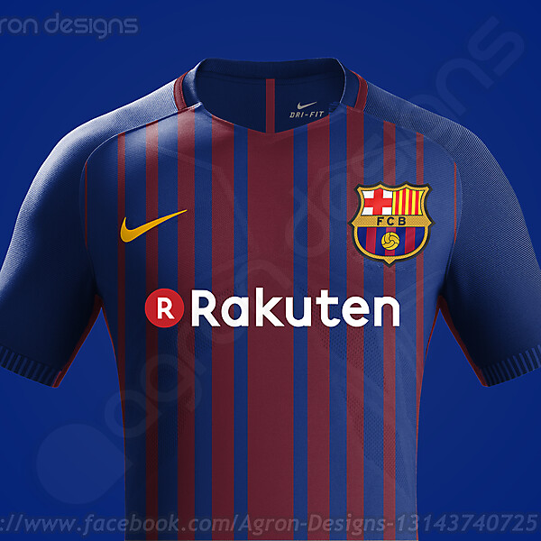 Nike Fc Barcelona 2017-18 Home Kit Based On Leaked Images Final Design