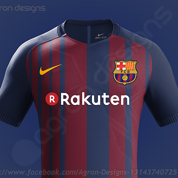 Nike Fc Barcelona 2017-18 Home Kit Based On Leaked Images (Updated)