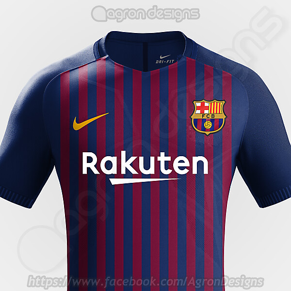 Nike Fc Barcelona 2018-19 Home Kit Prediction