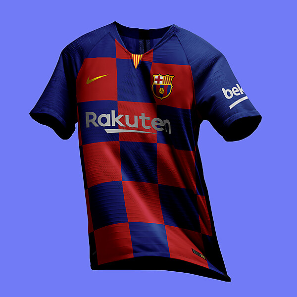 Nike FC Barcelona 2019-20 Plaid Jersey Preview