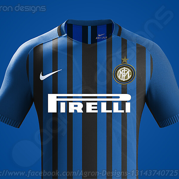 Nike Fc Internazionale 2017-18 Home Kit Based On Leaked Images