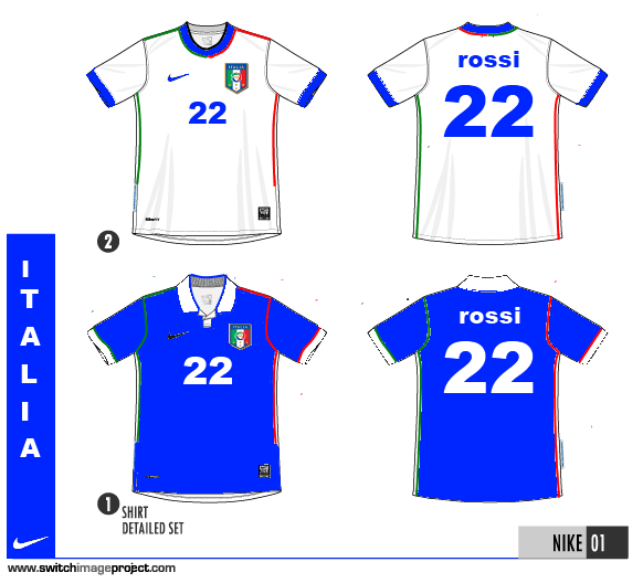 Italy Home & Away Shirt by Nike...