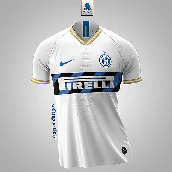 NIKE X INTER AWAY KIT REDESIGN CONCEPT