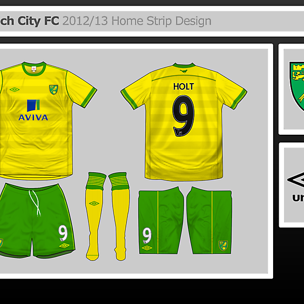 Norwich City Home Strip