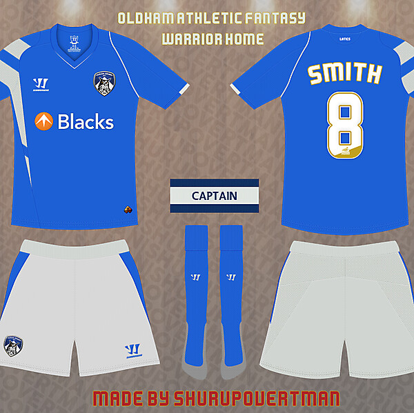 Oldham Athletic Fantasy Warrior Home
