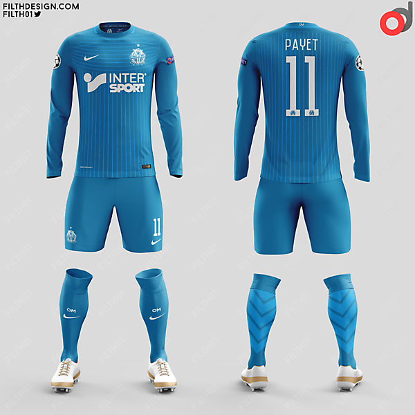 Olympique de Marseilles x Nike | Away Kit