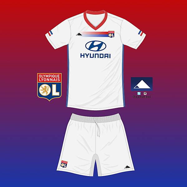 Olympique Lyon Home kit, own design