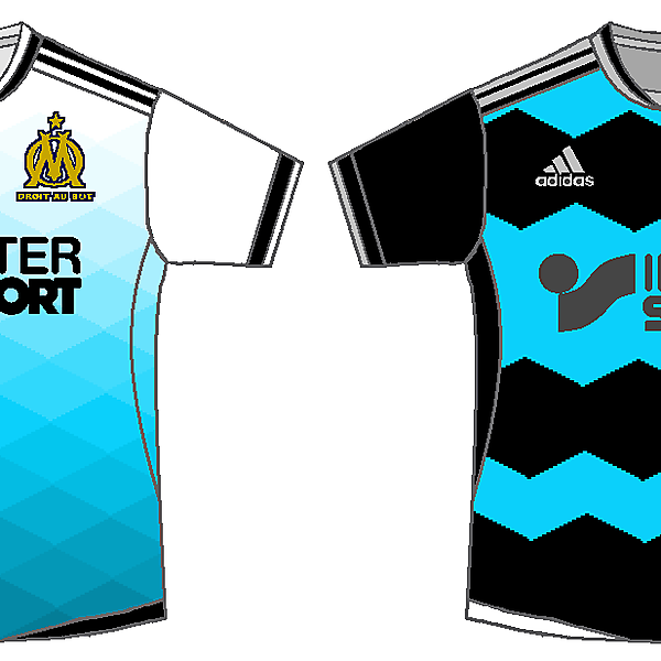 Olympique Marseille home and away kits