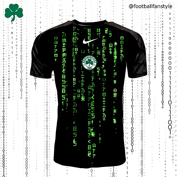 Panathinaïkós FC x Nike x The Matrix away concept kit