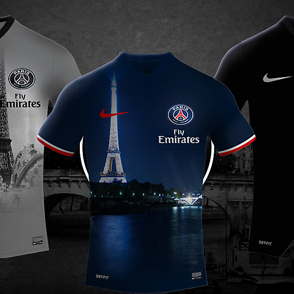 Paris Saint-Germain 17/18 Nike Kits