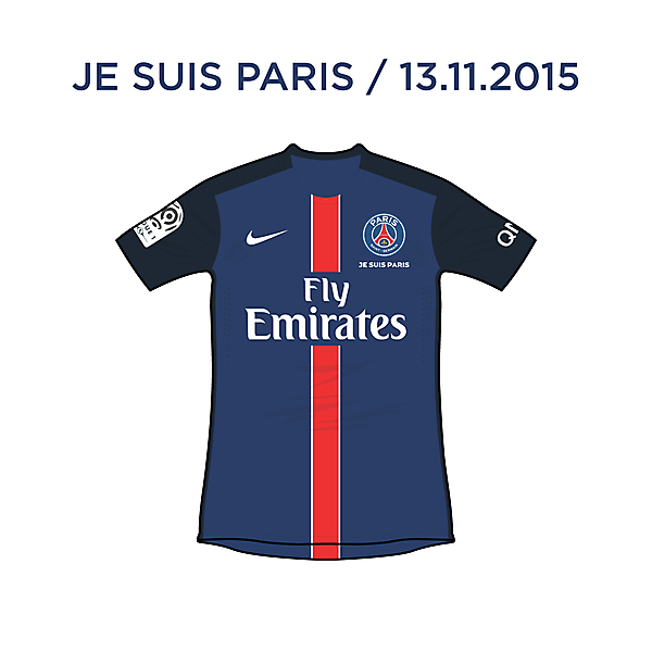 Paris Saint-Germain / Je Suis Paris (13.11.2015)