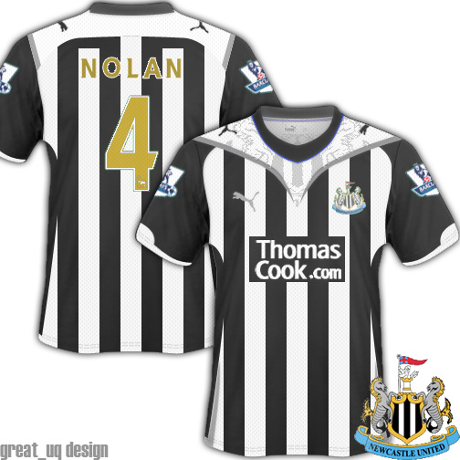Newcastle United 10/11 Fantasy Puma Kit