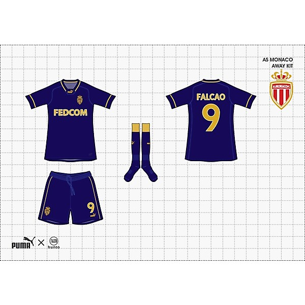 (puma x kunto) as monaco away kit