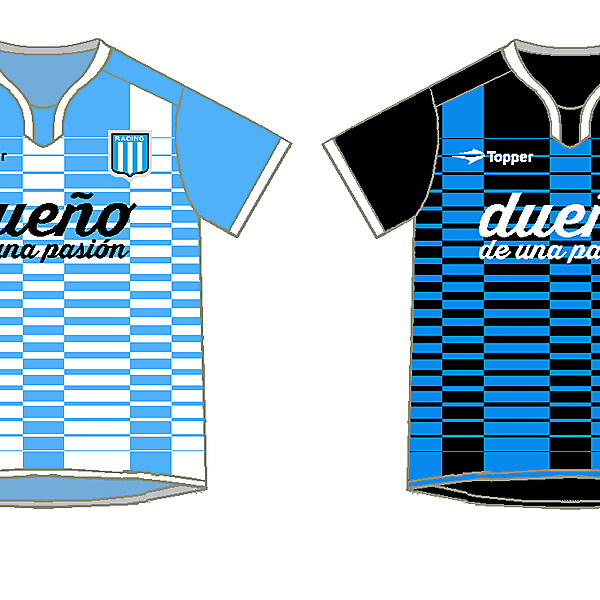 Racing Club Home and away kits