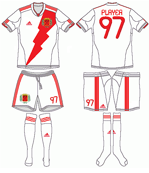 Rayo Vallecano Adidas Home Kit