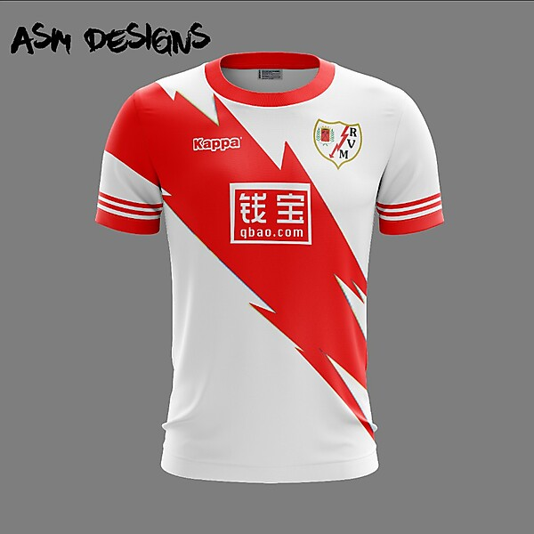 Rayo Vallecano Kappa 2018 Home Kit