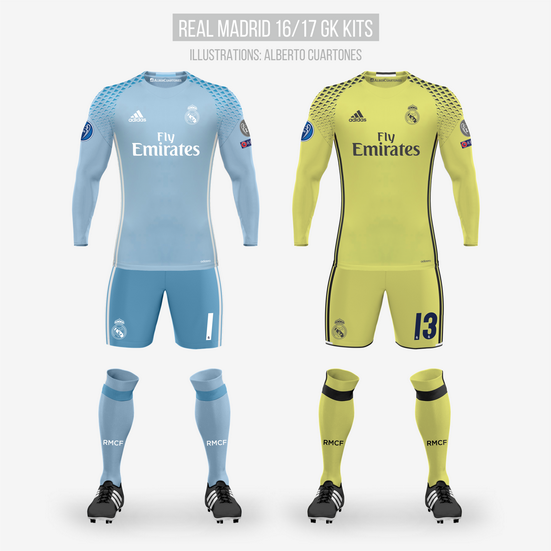 Real Madrid 16/17 Goalkeeper Kits