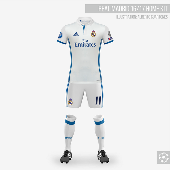 Real Madrid 16/17 Home Kit