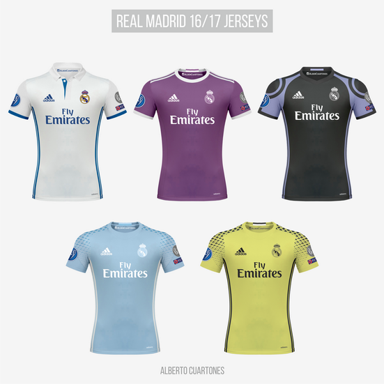 Real Madrid 16/17 Jerseys