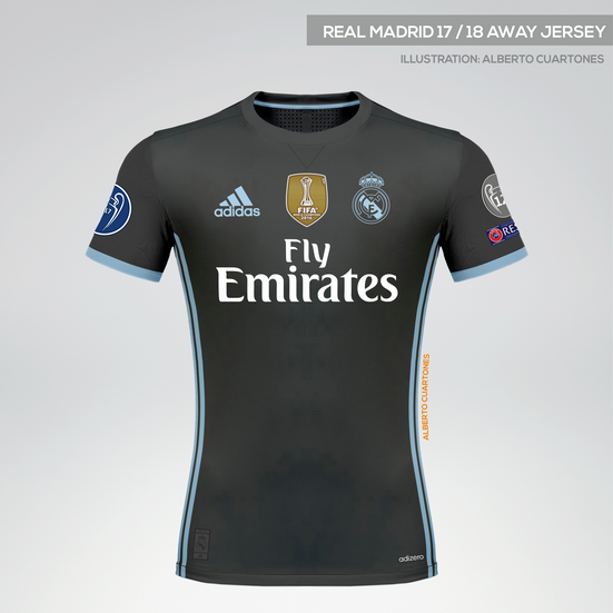 Real Madrid 17/18 Away Jersey