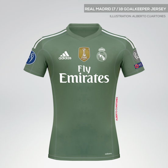 Real Madrid 17/18 Goalkeeper Jersey