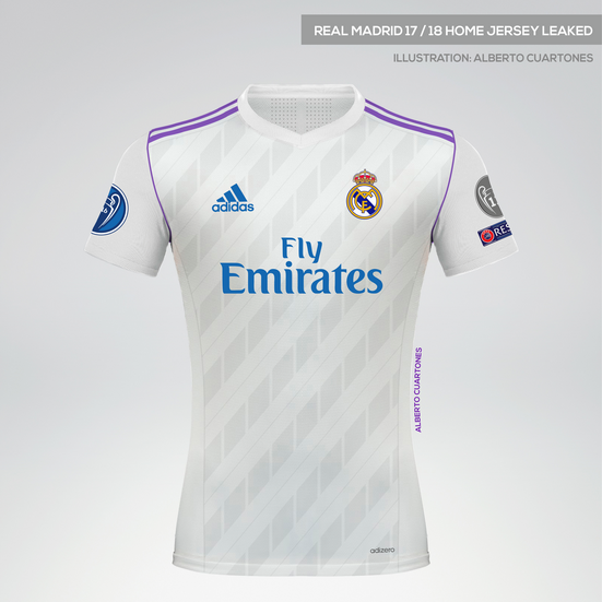 Real Madrid 17/18 Home Jersey leaked
