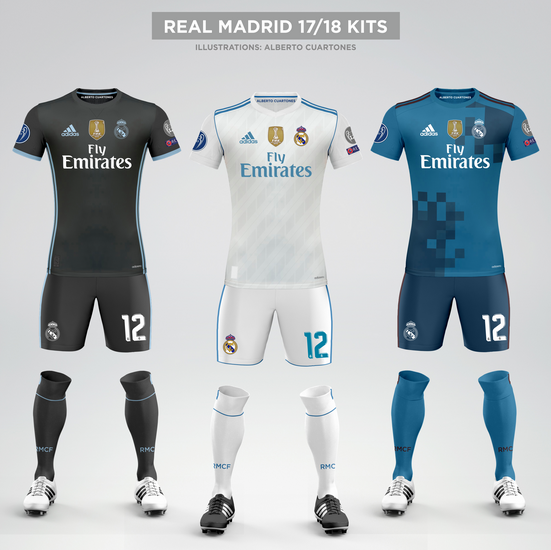 Real Madrid 17/18 Kits