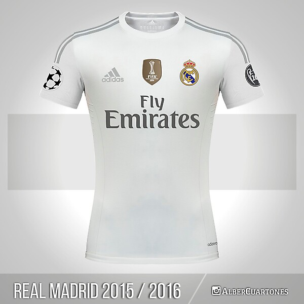 Real Madrid 2015 / 2016 Home Shirt (according to leaks)