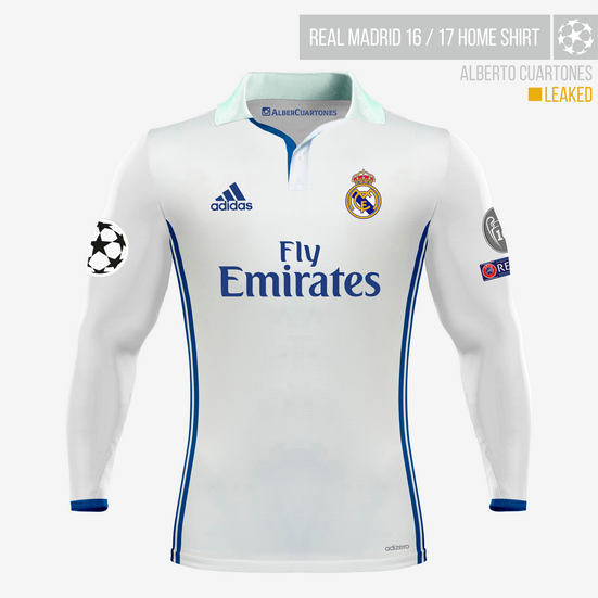 Real Madrid 2016 / 2017 Home Shirt (according to leaks)