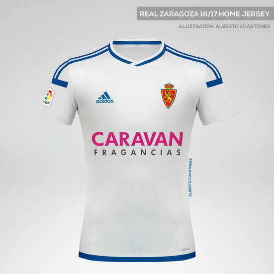 Real Zaragoza 16/17 Home Jersey