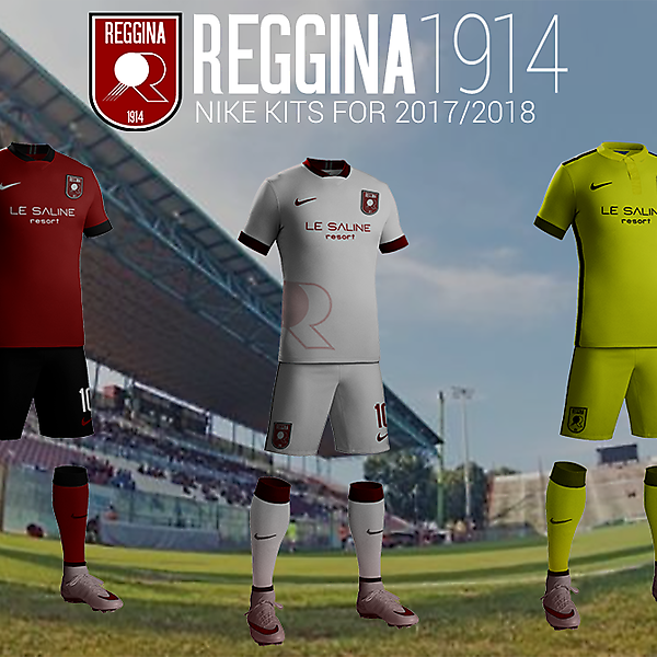 Reggina 1914 Nike kits