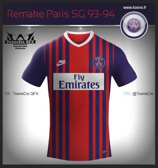 Remake Paris SG 93-94