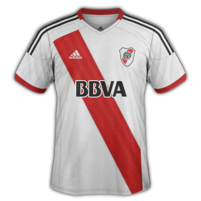 River Plate Home kit 2015/16 with Adidas