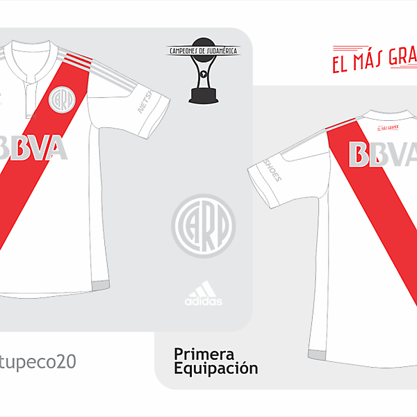 River Plate home kit 2015/2016