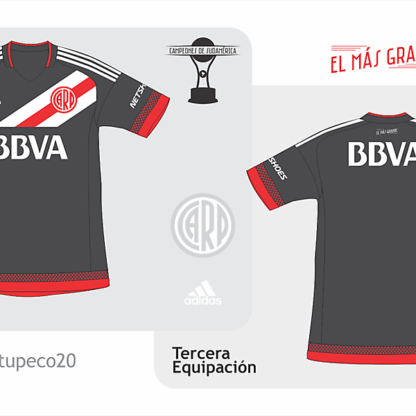 River Plate third kit 2015/2016