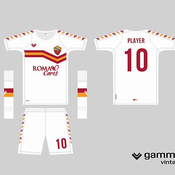 roma away kit in a simplistic template