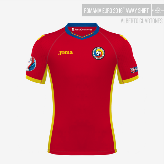 Romania UEFA EURO 2016™ Away Shirt