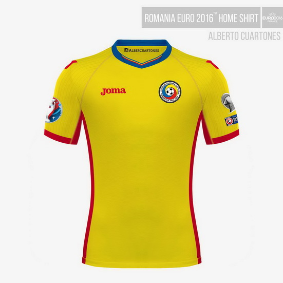 Romania UEFA EURO 2016™ Home Shirt