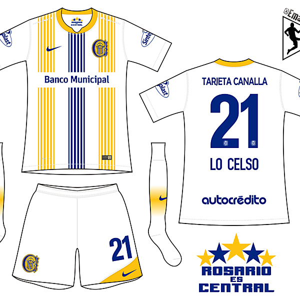 Rosario Central - Away kit