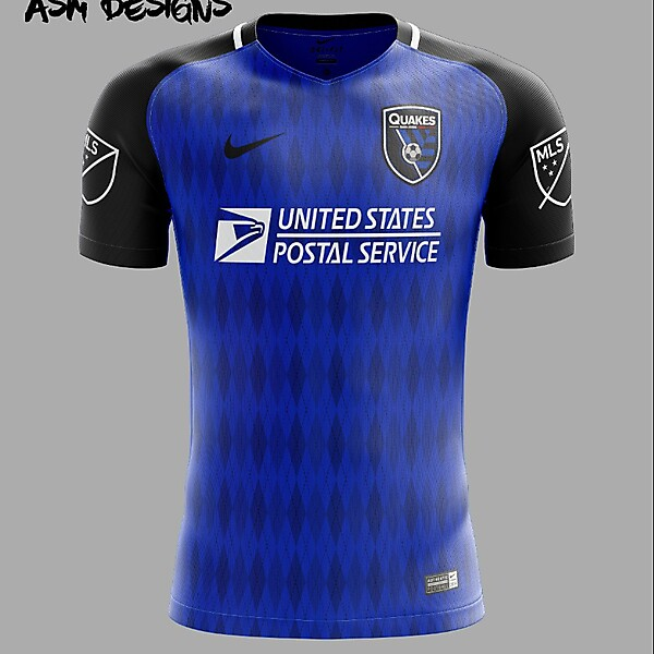 San Jose Earthquakes Nike 2018 Home Kit