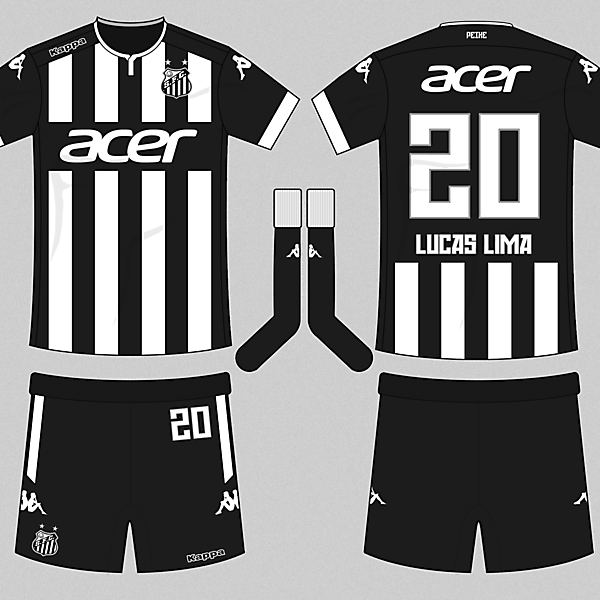 Santos 16-17 Kappa Away Kit