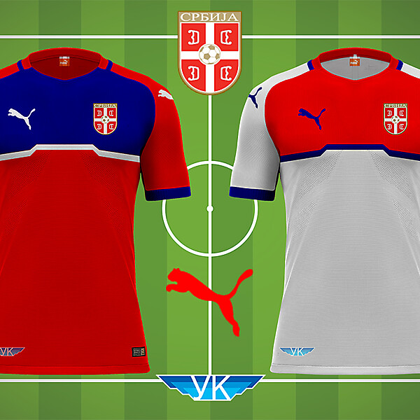 Serbia Puma Home Away Kit