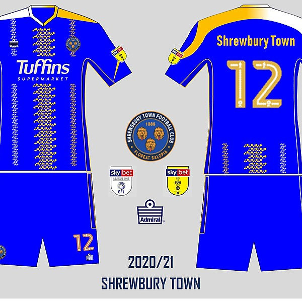 Shrewbury town 2020/21 prototype Vol2