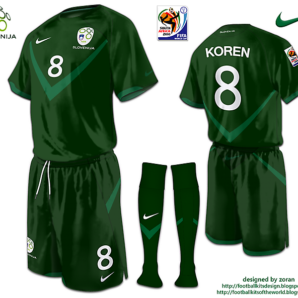 Slovenia World Cup 2010 fantasy away
