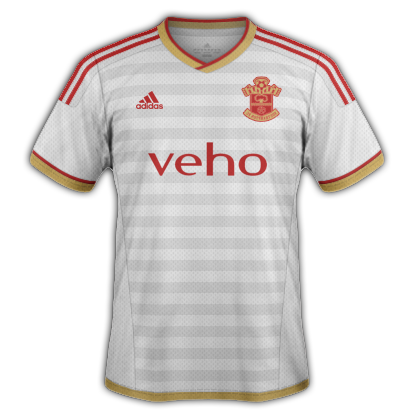Southampton Away kit 2015/16 season with Adidas