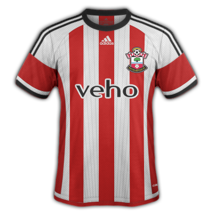 Southampton Home kit 2015/16 season with Adidas